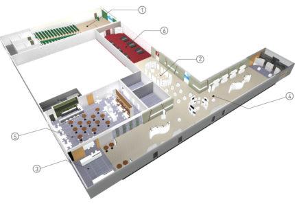 Схема большого конференц зала