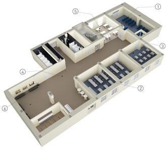 Схема зала для тренинга