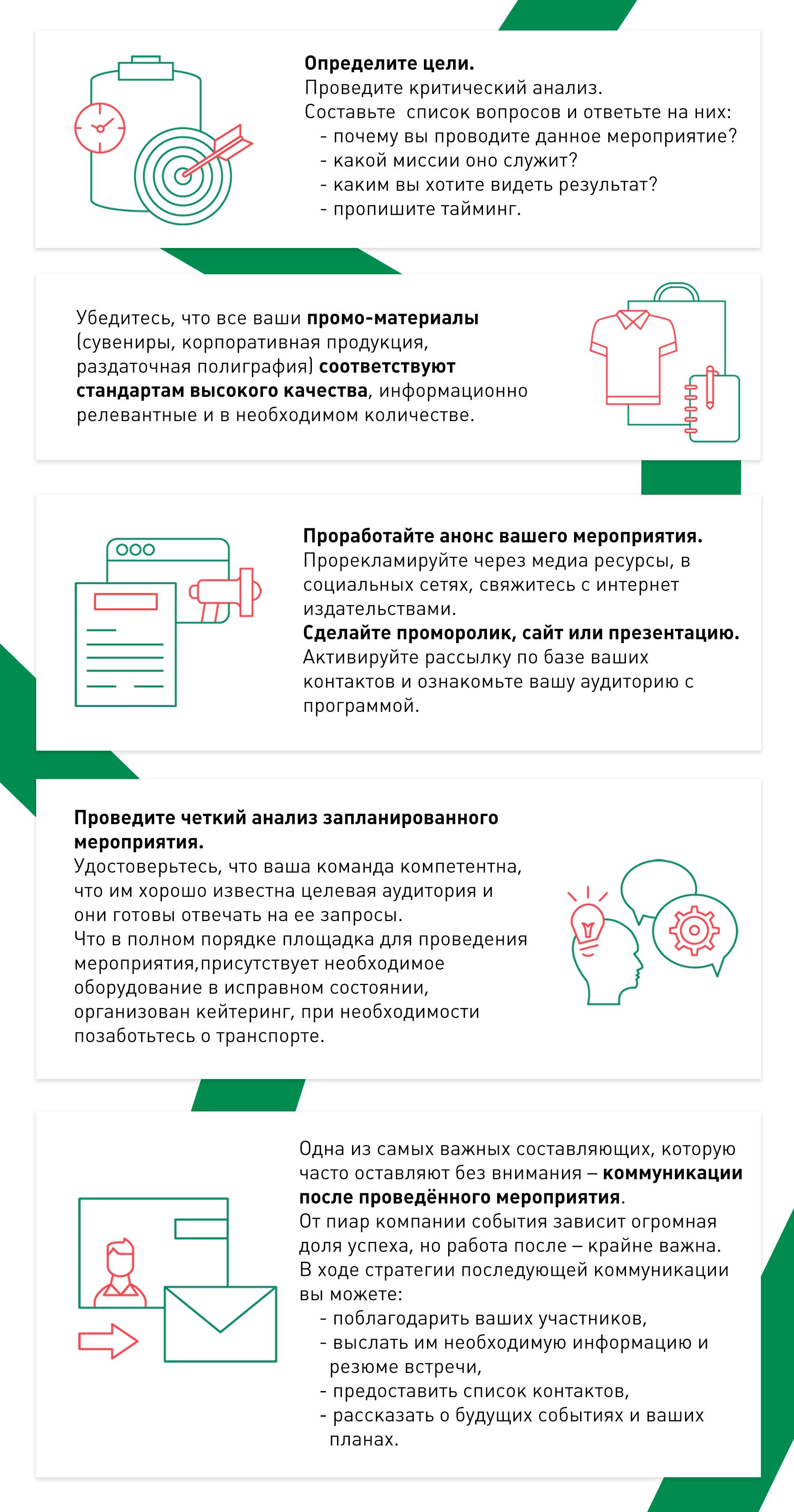 Инфографика - Рекомендации по проведению мероприятия